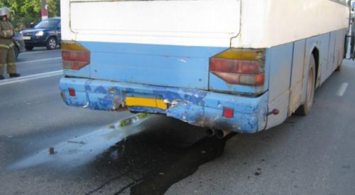 Неподалеку от столицы Башкирии загорелся автобус с детьми