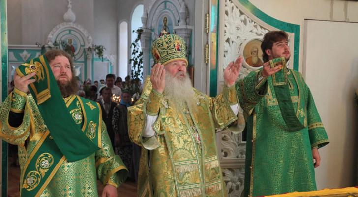 Русская Православная Церковь отмечает праздник Троицы